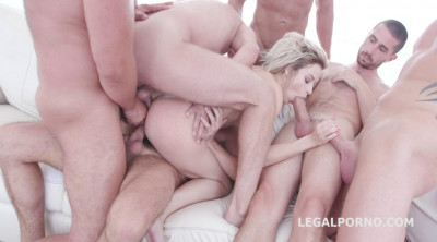 6on1 Endurance Gangbang with Double Anal
