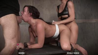 Gets a sybian ride! -rough bdsm porn