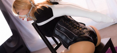 Black Velvet and PVC Panties