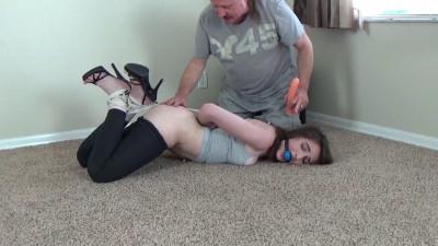 Naughty Ties - High Heeled And Hogtied Wife!