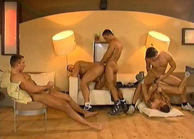 Euro orgy with muscle fuckers
