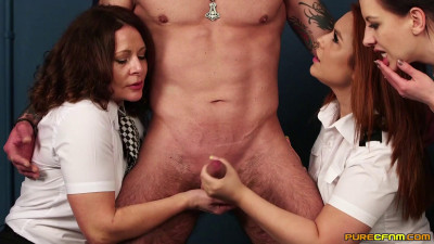Carly. G, Mandy Foxxx and Tindra Frost Prisoner Processing
