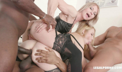 Interracial Anal Orgy With DP For Sindy Rose & Rebecca Sharon