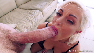 A Blonde With Nice Natural Tits In Anal Action
