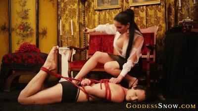 Goddess Snow - Red Rope Hogtie Photoshoot