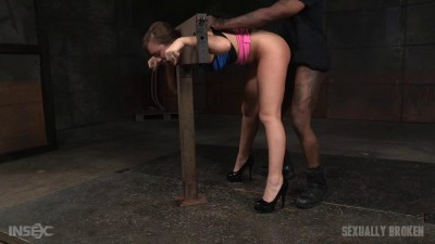 Maddy OReilly bound and drooling in strict bondage
