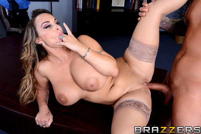 The Boss Is Very Impressed With Her Big Tits - english, big, tight ass, POV