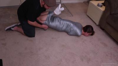 Captive Chrissy - Hellishly Hogtied Mummification
