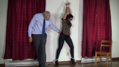 Description Enchantress Sahrye: Two Tight Bondages In Tight Jeans and Boots