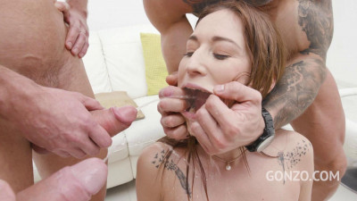 Mina anal & Dap 4 on 1 with 0% Pussy & Piss Clean-Up