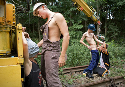 Fucked Hard By Track Workers