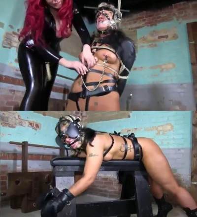 Tight bondage, strappado and torture for naked blonde (part 2)