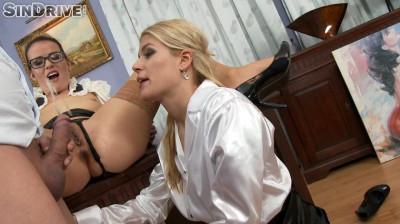Sweet Cat, Samantha Johnson - Business Babes Power Pissed At The Gallery!