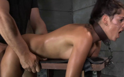 Busty Brunette Ava Dalush Chained And Shackled