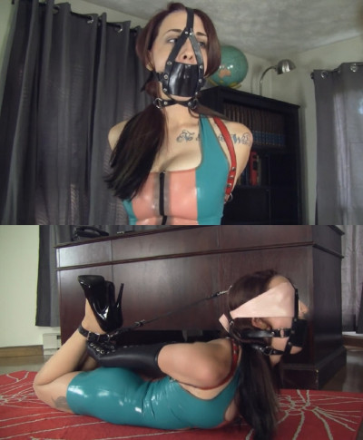 Tight bondage, domination and hogtie for beautiful young bitch