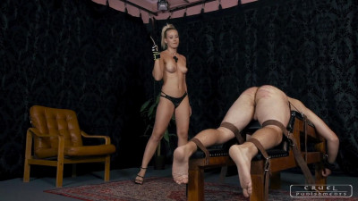Cruel Punishments – Lady Anette – Severe Femdom – Topless caning with Anette
