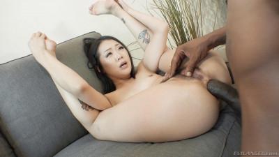Asian Beauty Saya Song Sucks His Big Black Cock