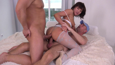 First DP Asian Milf Jessika Li with Gapes and Cum in Mouth
