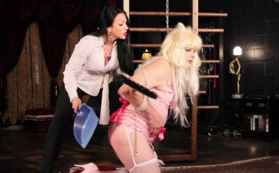 Bound Spanked Sissy (trans, time, fun, video)