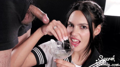 Apolonia Uses Her Sperm Covered Hands to Stroke Dicks