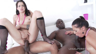 Eveline Dellai & Kate Black like interracial DP gangbang