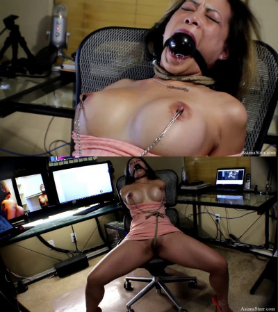 Hard bondage, domination and torture for sexy naked slavegirl