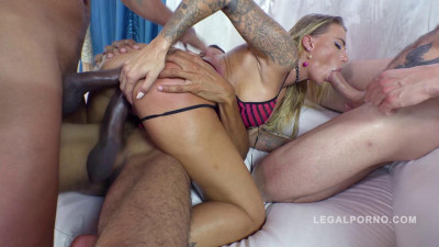 Juelz Ventura Loves Interracial Gangbang With Double Anal