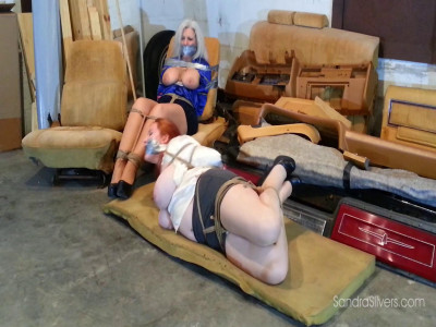 Hogtied Amazon Redhead Joins Captive Curvy Milf Secretary