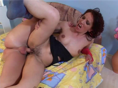 Mature hairy MILF Judy first time