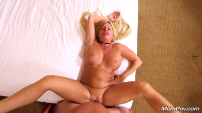 Thick blonde horny milf