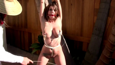 Super bondage, spanking and torture for very horny brunette