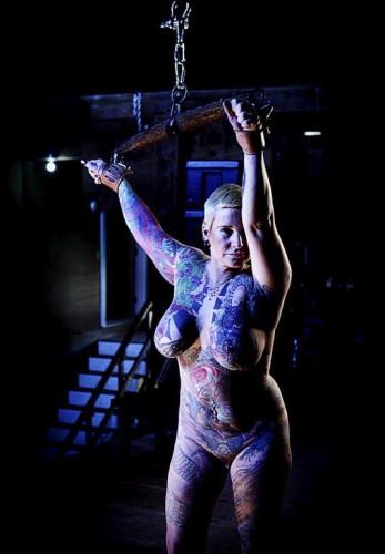 Girl - tattoo in BDSM
