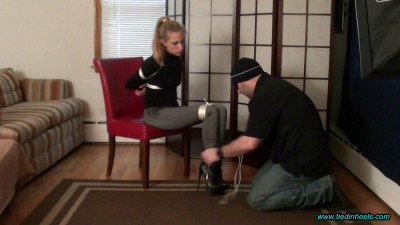 Rachel Lilly Tied in Sexy High Heeled Ankle Boots!