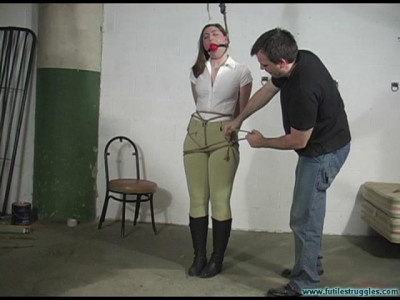 Blue – Equestrian disciplined with tight bondage and a Tighter gag – Part 1
