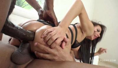 Teen slut interracial anal & DP with 2 massive black cocks