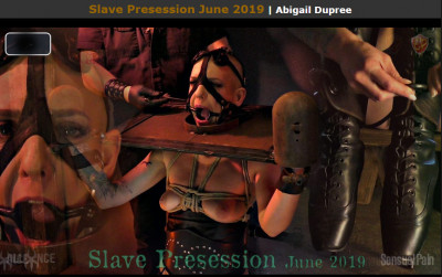 Description Sensualpain Slave Presession June 2019