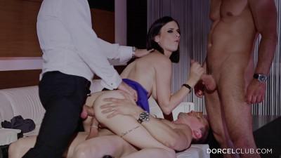 Claire caste the scandalous fucked by 3 men