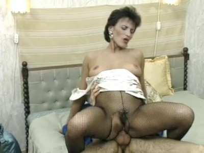 Cock riding in nylon