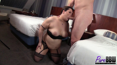 Christian gets BBW TS cam model on his casting couch