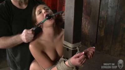 Bondage, spanking, hogtir and torture for sexy model part 2