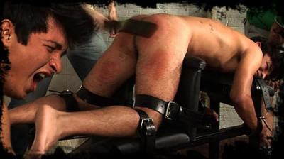Description Restrained on the spanking bench