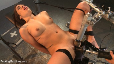 Ring the Alarm: Hot, new 18 year old bound and machine fucked