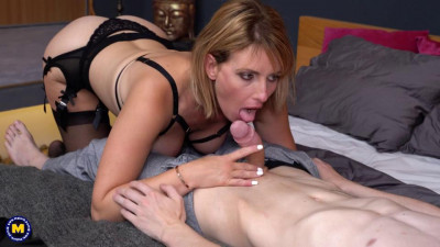 Emma Klein invites a toyboy for some hard anal sex