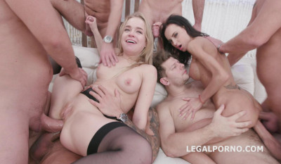 7on2 Double Anal Gangbang For Russian Beauties