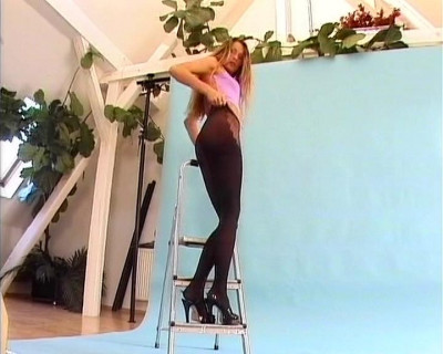 Description Sexy nylon and heels