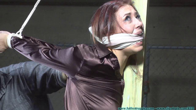 Description Riley is Captured Belt Whipped and Hogtied