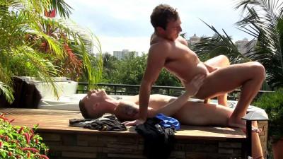 Jacob Durham and Sam Truitt Bareback In The Jacuzzi