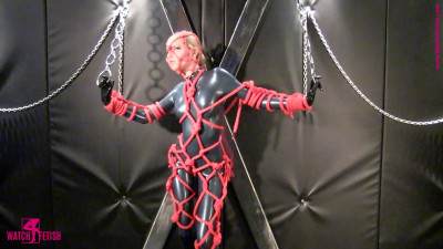 Angelina - Tied with ropes