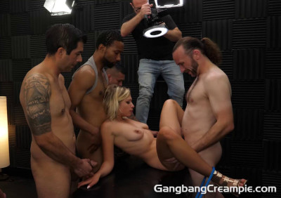 Creampie GangBang For Blond Slut