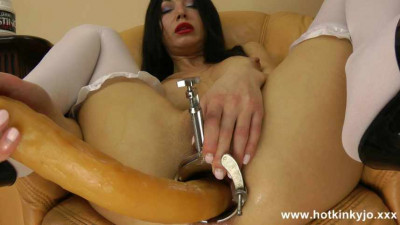 Long Dildo Inside Amazing Hotkinkyjo